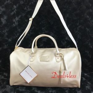 Michael Kors Duffel Bag Weekender Gold Travel NEW